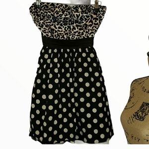 Sweet Love Black and White Dress